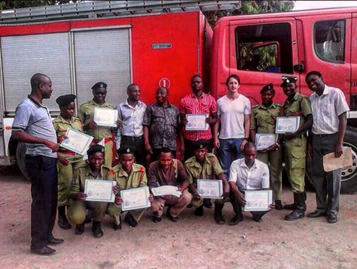 First graduating class with Mwanza Fire Department